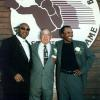 Hagler, Carmen Basilio and Sugar Ray Leonard together at the 1997 HOF Weekend.