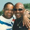 Hagler and fellow HOFer Wilfred Benitez at the 1996 HOF Weekend
