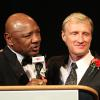 Hagler has fun with HOFer Jimmy Lennon Jr at Banquet of Champions