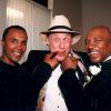 Sugar Ray Leonard and Hagler having fun with Bert Sugar