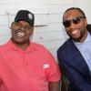 Spinks and Arizona Cardinals legend Larry Fitzgerald meet up in Canastota during the 2018 Hall of Fame Weekend.
