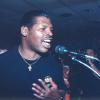 Spinks sings a tune at Graziano's restaurant in Canastota during the 1999 Hall of Fame Weekend